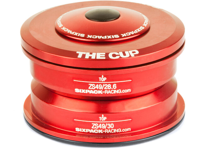 Sixpack The Cup Headset ZS49/28.6 I ZS49/30 red